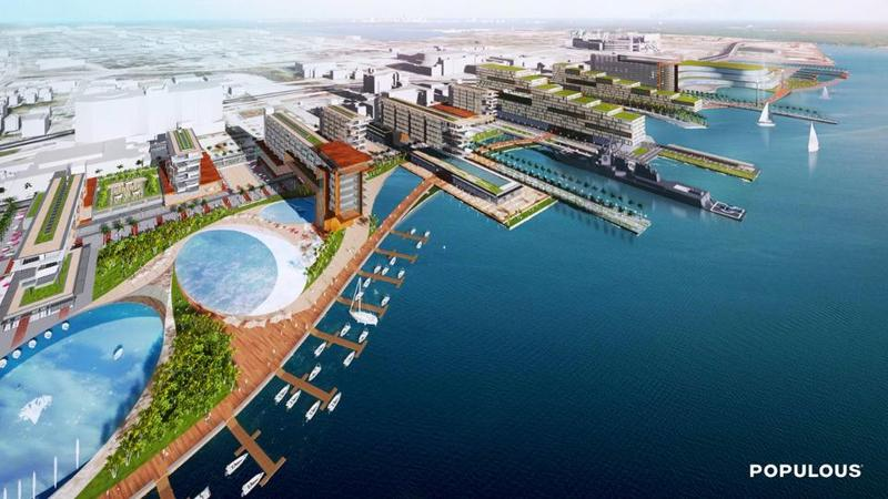 This 2015 rendering shows a vision for The Shipyards that includes the USS Adams. It was presented under Jaguars owner Shad Khan's direction.