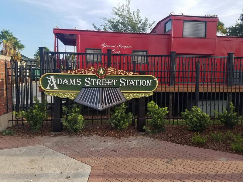 Adams Street Station is a gated community of 25 railcars located across from Everbank Field.