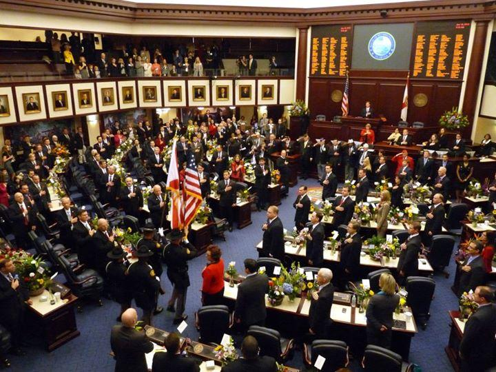 The Florida House Chamber is pictured.