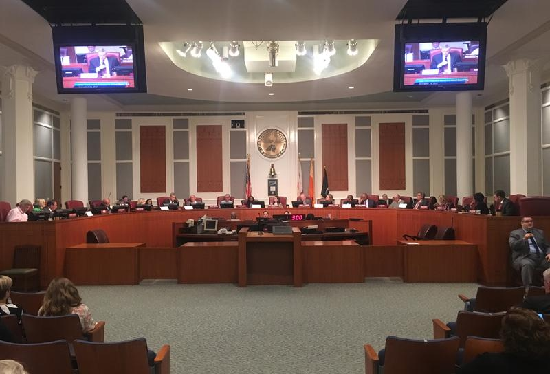 The Duval County School Board met with Jacksonville City Council members in the council's chambers Tuesday.