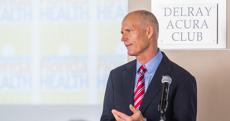 Gov. Rick Scott is pictured on Oct. 9, 2017.