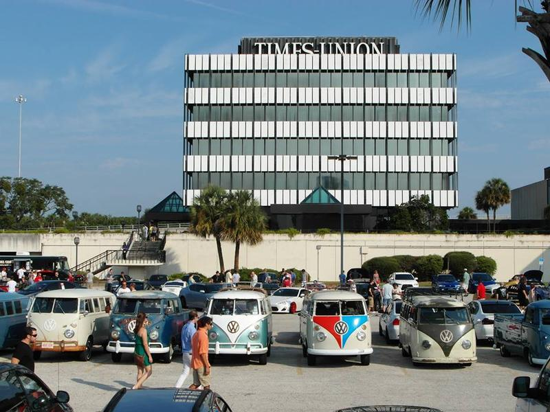 """The Florida Times-Union is pictured during a 2013 """"Cars & Coffee"""" cruise-in."""