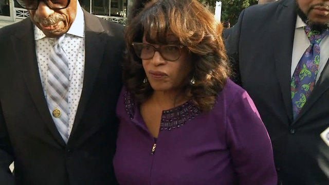 Former U.S. Rep. Corrine Brown arrives at the Federal Courthouse in downtown Monday for sentencing.