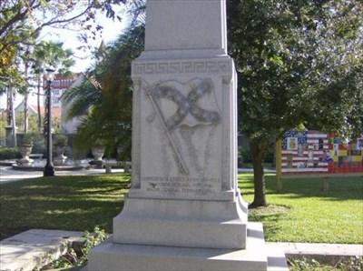 UF-controlled monument honoring Confederate General William Loring in St. Augustine.