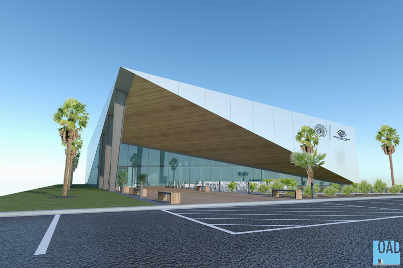 A rendering of the what the new facility will look like.