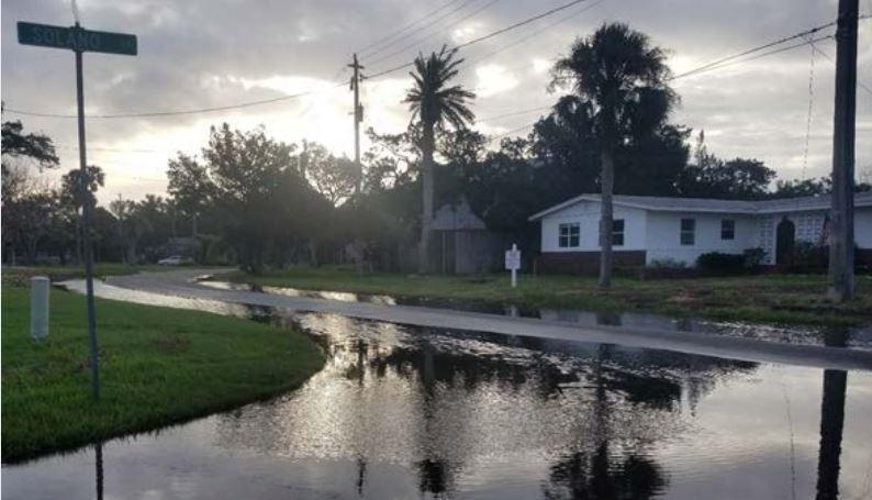 Nuisance flooding as a result of king tides in St. Augustine.