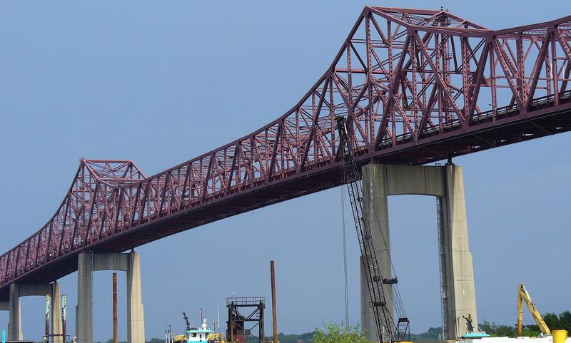 A view of the Mathews Bridge.