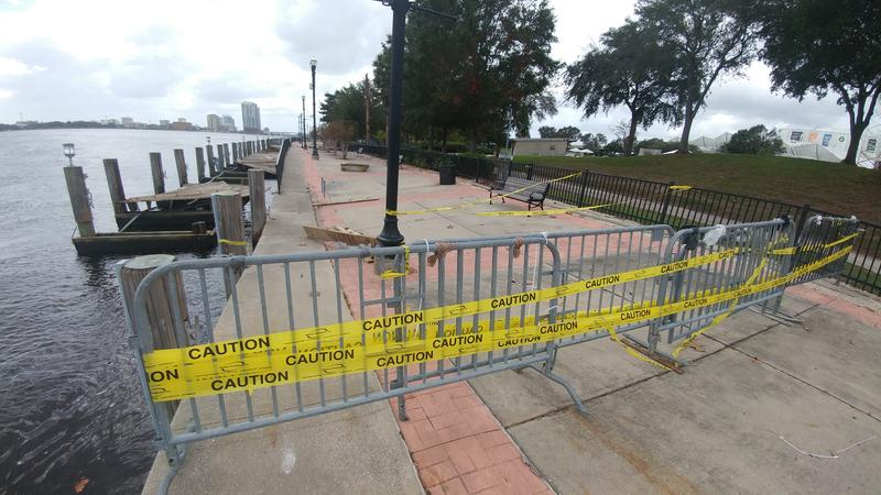 This portion of the Northbank Riverwalk at Metropolitan Park that was damaged during Hurricane Irma still hasn't been repaired.