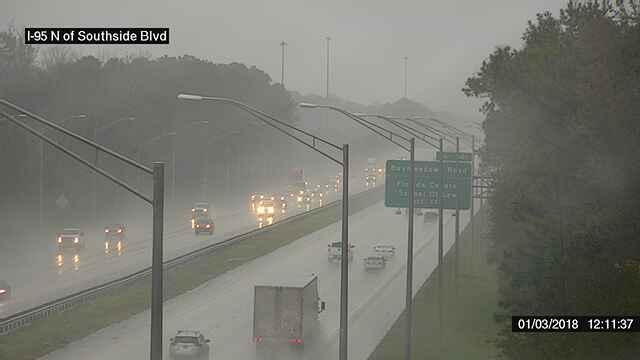 Southside I-95 traffic at 12:15 p.m. on Wednesday is pictured.