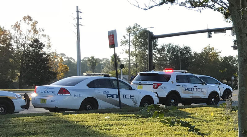 UNF Police Department cruisers are pictured on Nov. 20, 2017.