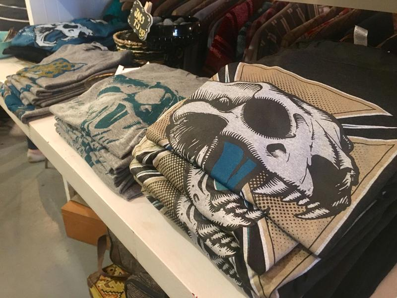 Wolf & Cub co-owner Varick Rosete designs Jags-inspired merchandise.