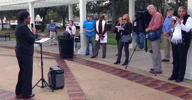 Activists gathered at Friendship Park Tuesday as the 2018 Florida legislative session began.