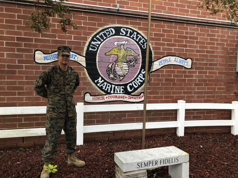 Marine Corps JROTC Cadet Lt. Col. Gregory Hill
