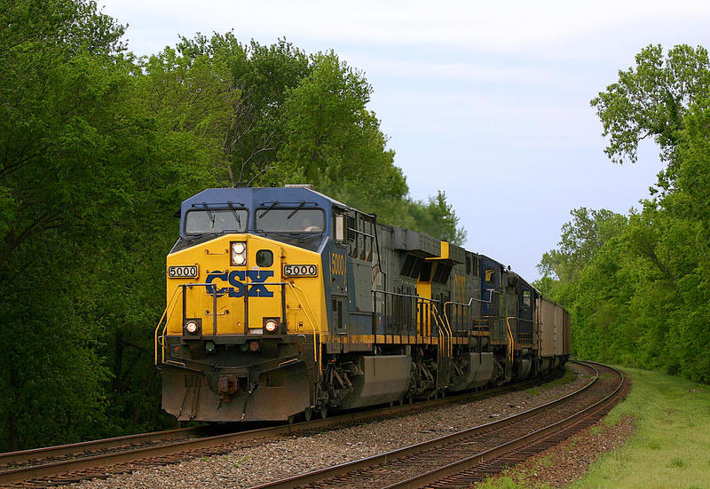 A CSX train is pictured.