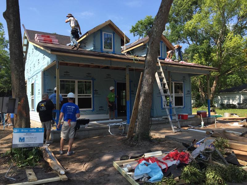 Habijax volunteers help build a home in New Town