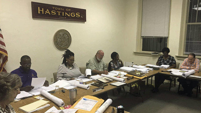 The final town commission meeting was held in Hastings Monday night.
