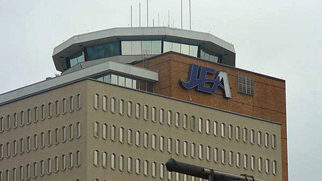 JEA's headquarters building in downtown Jacksonville is pictured.