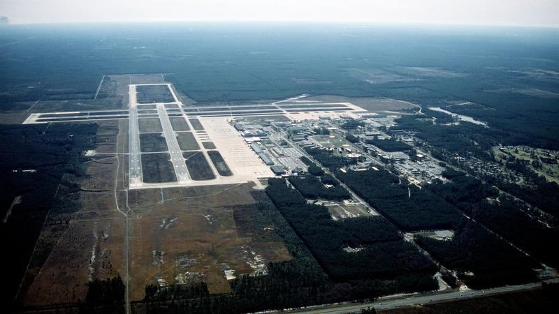 This archived aerial photo shows what was Naval Air Station Cecil Field, a part of which is being transformed into the Cecil Spaceport.