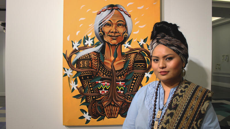 Artist Grace Bio exhibits her ode to Kalinga tattoo artist Whang Od.