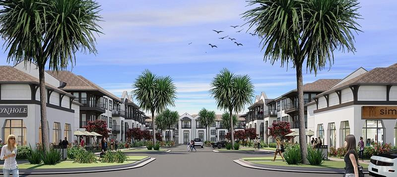 Residential and shopping rendering