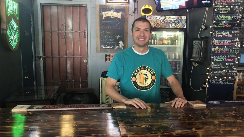 Ronni Penna runs the arcade bar Keg and Coin.