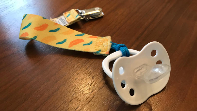 Pacifier clips like this are no longer allowed in babies' cribs at licensed day care centers in Florida.