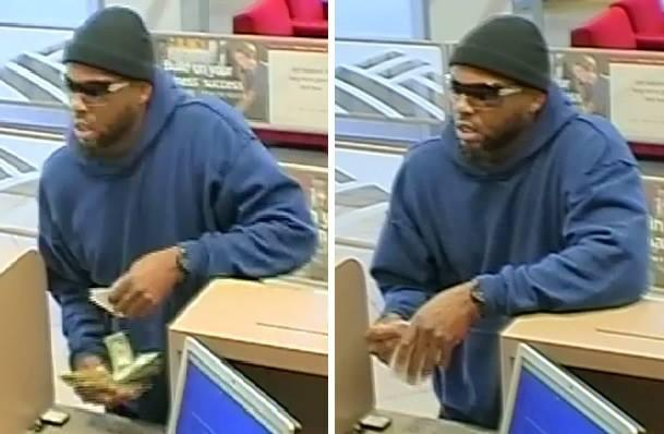 Survilence photo of robbery suspect.