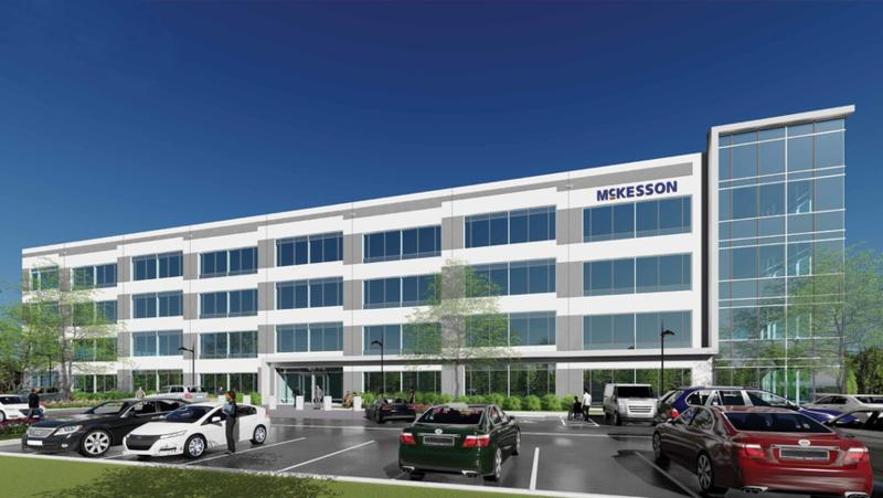 McKesson Corp. will lease the first office building to be built at Southside Quarter at southwest Butler Blvd. and I-295.