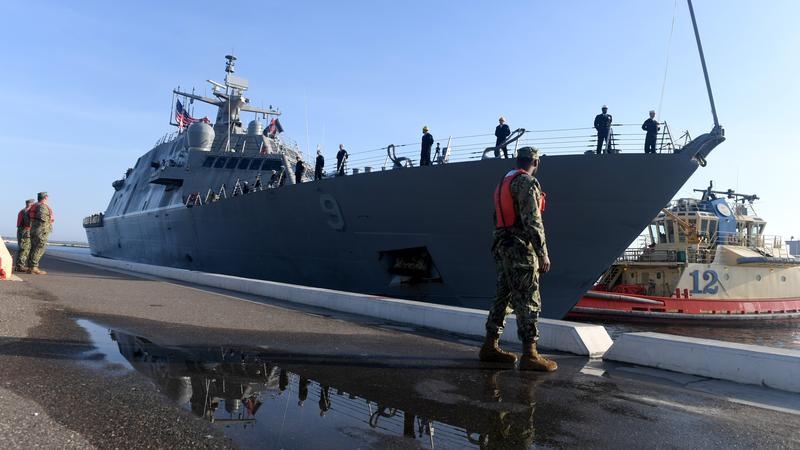 The USS Little Rock arrived at Naval Station Mayport for the first time Thursday morning.