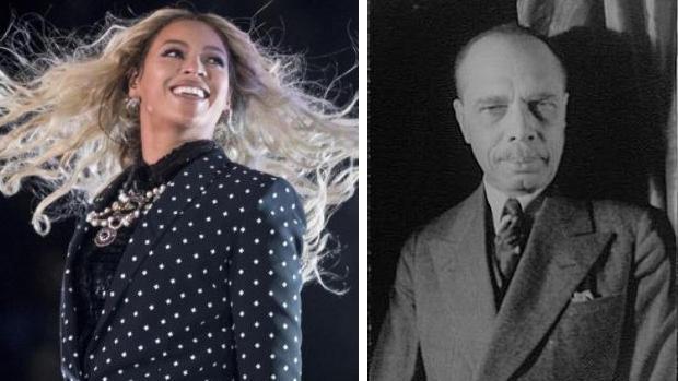 Beyoncé (left), James Weldon Johnson (right)