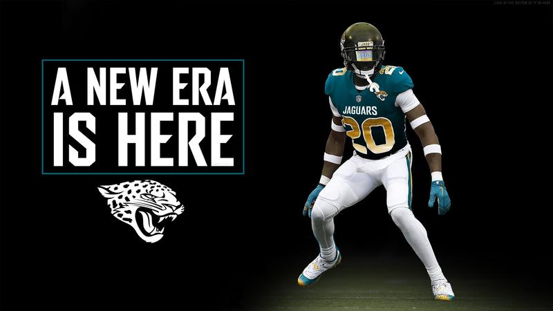 "The Jaguars showed off this ""new uniform"" as an April Fool's Day joke."