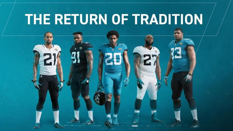 The Jaguars unveiled the team's new uniforms at Thursday's State of the Franchise.