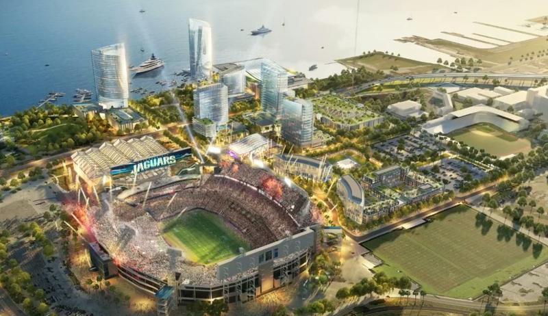 The Jaguars unveiled new renderings of the proposed Lot J and Shipyards projects Thursday.