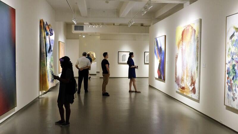 Guests browse MOCA during Art Walk.