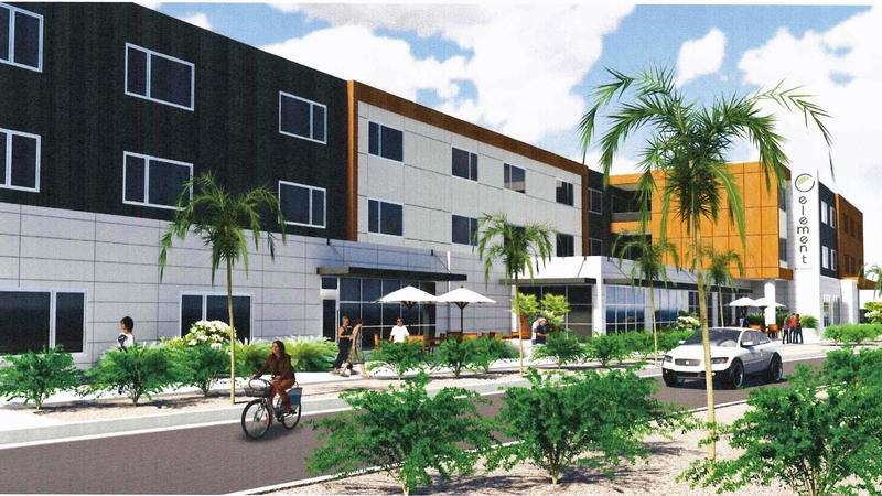 A rendering of the Element by Westin Hotel planned for Jacksonville Beach.