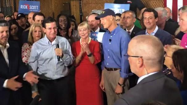 Gov. Rick Scott announced a Senate bid in Orlando this morning,