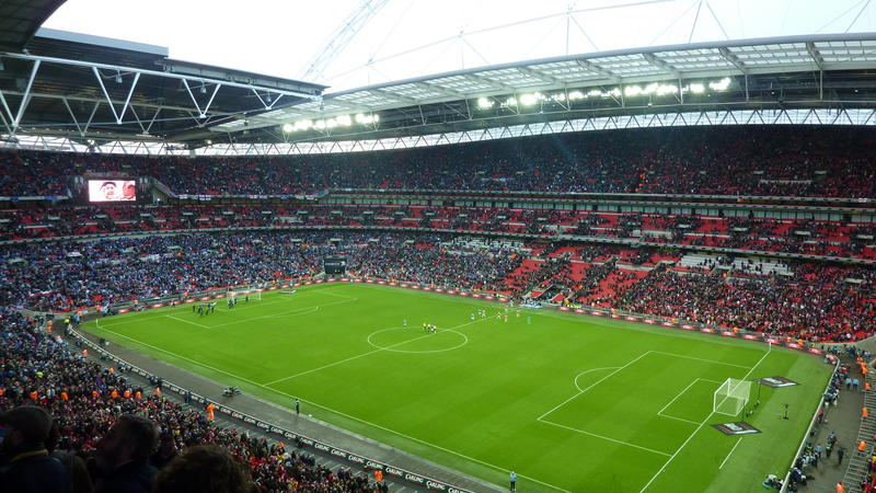 Wembley Stadium in London,
