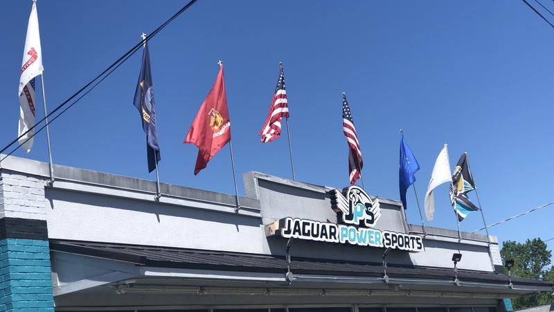 city apologizes for military flags flap at jacksonville business wjct news. Black Bedroom Furniture Sets. Home Design Ideas