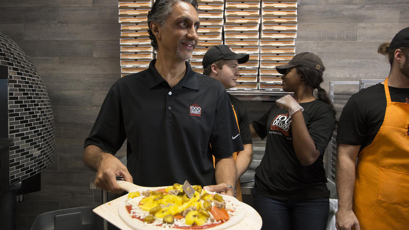 Prakash Patel at his 1000 Degrees Pizza restaurant in Fernandina Beach. He and his brother, Anil Patel, intend to open a Baymeadows location and expect their Gainesville restaurant to launch in a few weeks.
