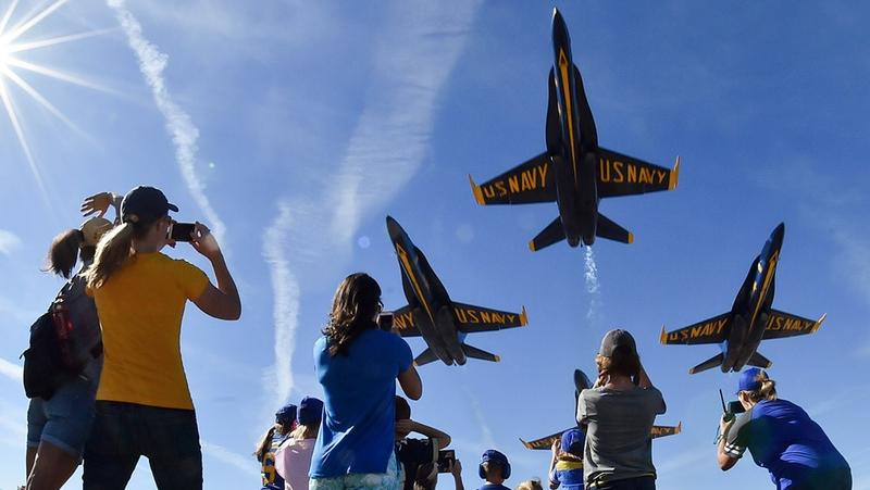 The Blue Angels are pictured at a 2017 performance.
