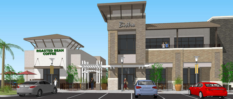 A rendering of the retail space planned for Baymeadows Road.