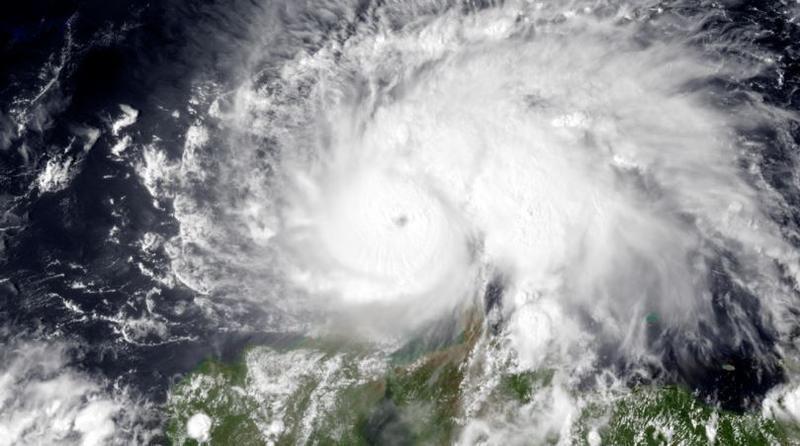 This satellite image of Hurricane Matthew was taken on Sept. 30, 2016.