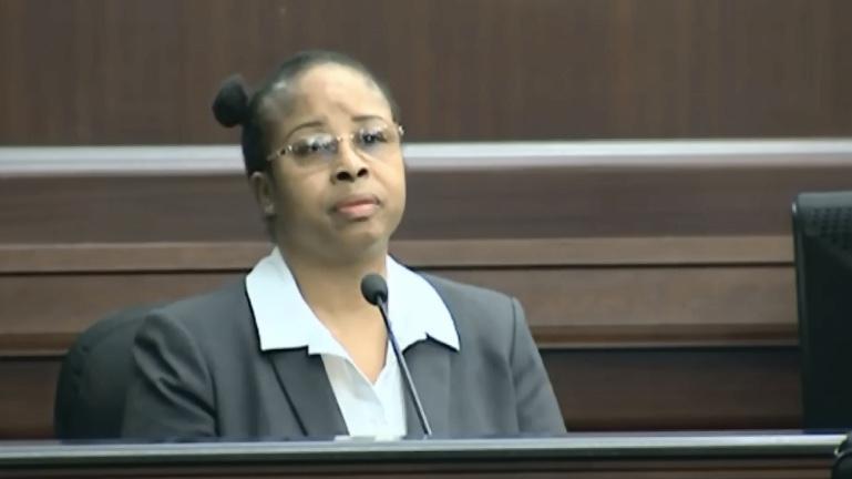 Gloria Williams testified at her sentencing hearing, Friday.