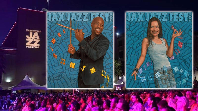 To see larger versions of 2018 Jacksonville Jazz Festival posters that aren't cropped scroll down in the story.