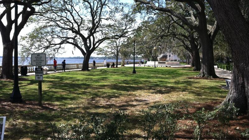 Jacksonville's Memorial Park is pictured.