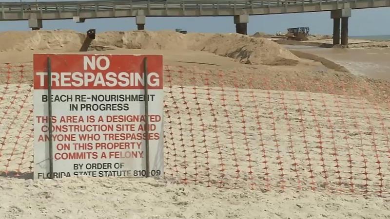 St. Augustine Beach is undergoing a beach renourishment.