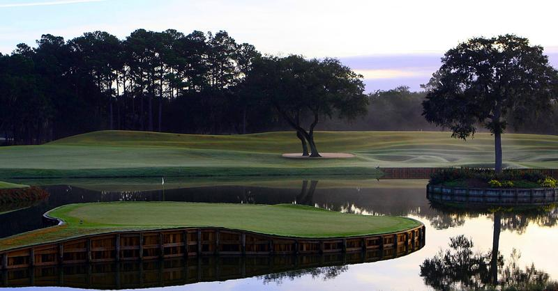 The famous #17 at TPC Sawgrass, home of The Players Championship.