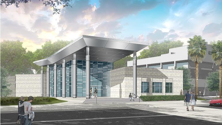 "Jacksonville University's proposed Welcome Center is part of the ""Jacksonville University Project"" that will be funded by a $125 million bond issue."