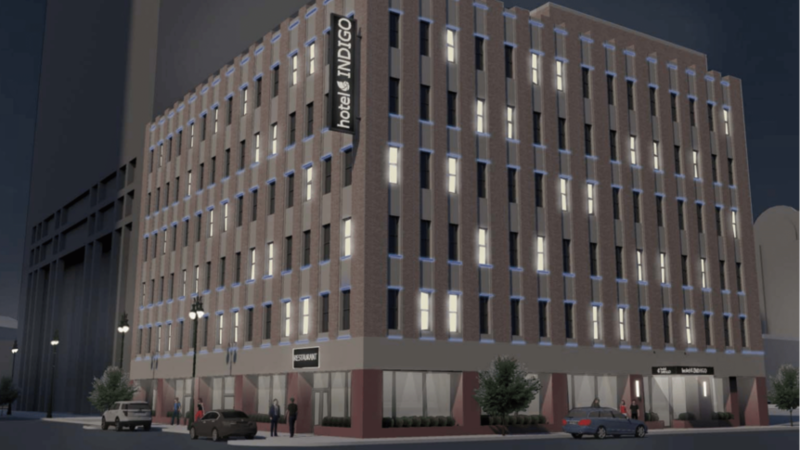 The former Life of the South Building at 100 W. Bay St. will be converted into a Hotel Indigo.