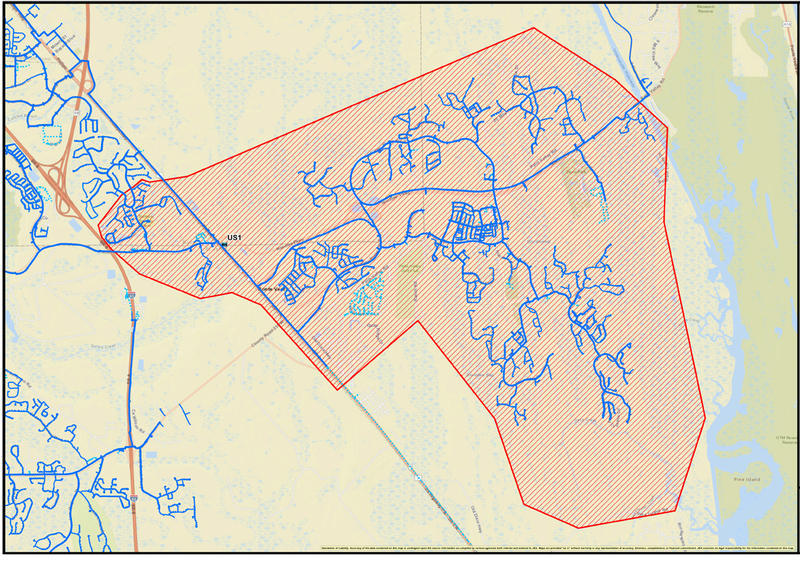 This JEA map shows the area that had been impacted by the boil water advisory.